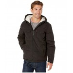 Hooded Puffer with Sherpa Lining