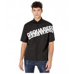 DSQUARED2 Mirrored Logo Print Shirt Black