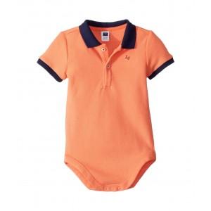 Pique Polo Bodysuit (Infant) Orange