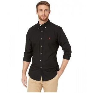 Polo Ralph Lauren Slim Fit Poplin Stretch Sports Shirt Polo Black