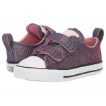 Chuck Taylor All-Star 2V Space Star (Infant/Toddler) Coastal Pink/Silver/White