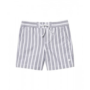 Janie and Jack Stripe Oxford Pull-On Shorts (Toddleru002FLittle Kidsu002FBig Kids) Blue