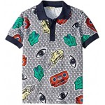 All Over Printed Polo Shirt (Little Kids)