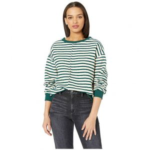 Raglan Sweater Green Stripe