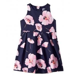 Sleeveless Floral Dress (Toddler/Little Kids/Big Kids) Navy Floral