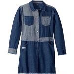 Two-Tone Denim Dress (Big Kids)