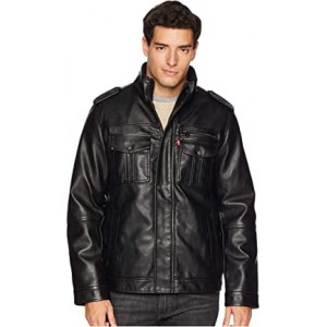 Two-Pocket Military Trucker with Sherpa Lining Black