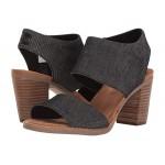 TOMS Majorca Cutout Sandal Black Denim