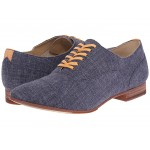 Hutton Cap Toe Navy Linen