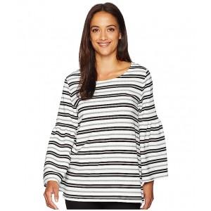 Stripe Bell Sleeve Top Soft White/Black