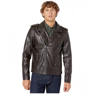 Levis Faux Leather Moto Antique Brown