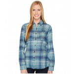 Long Sleeve Willow Creek Flannel Egyptian Blue Plaid