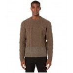 Chunky Cable Knit Sweater Beige