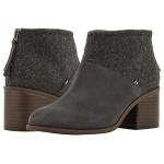TOMS Lacy Forged Iron Grey Suede/Felt Mix