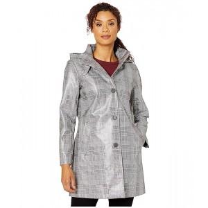 Laminated Plaid Raincoat