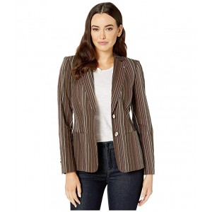 Stripe Two-Button Jacket Teak Multi