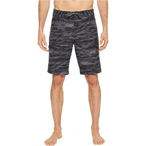 UA Reblek Printed Boardshorts Black Stealth/Gray Graphite