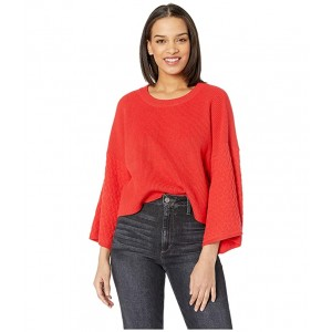 In the Mix Mixed Stitch Sweater Poppy Red