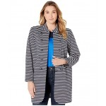 Plus Size Long Band Jacket Sky Captain/Brght White