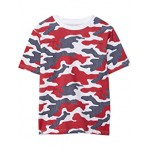 Tommy Hilfiger Kids Dotted Camo Short Sleeve T-Shirt (Bid Kids) Bright White