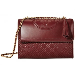 Fleming Convertible Shoulder Bag Claret
