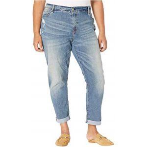 Plus Size Mid-Rise Slim Boyfriend Jeans Rumi