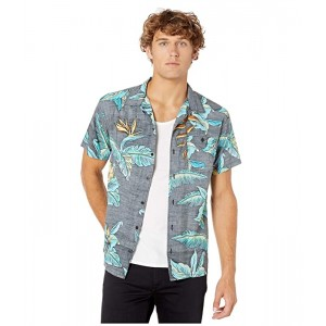 Quiksilver Millers Camp Short Sleeve Woven Black Ancient Mytle