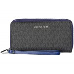 Jet Set Large Double Zip Around Wristlet