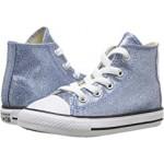 Chuck Taylor All Star Glitter - Hi (Infant/Toddler) Light Blue/Natural/White