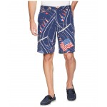 Surplus Chino Flat Front Shorts Flag Print Novelty
