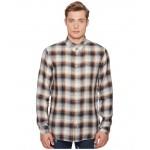 Linen Check Shirt Brown