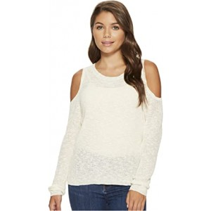 Unlimited Travel Cold Shoulder Sweater Marshmallow
