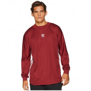 Authentics 3-Stripes Jersey Noble Maroon/White