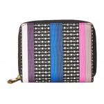 Novelty Stripe Rfid Mini Wallet Colorful Stripes