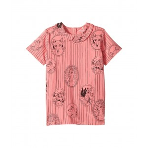 Fox Family Collar Tee (Infant/Toddler/Little Kids/Big Kids) Pink