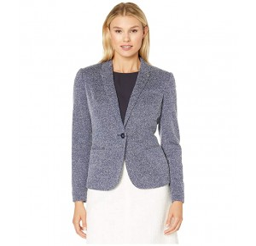 One-Button Jacket Midnight/Ivory