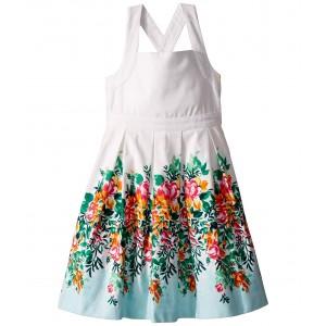 Floral Border Dress (Toddler/Little Kids/Big Kids) Floral Border