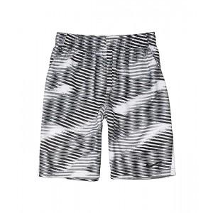 Nike Kids Dry All Over Print Shorts (Little Kidsu002FBig Kids) Black/White/Black