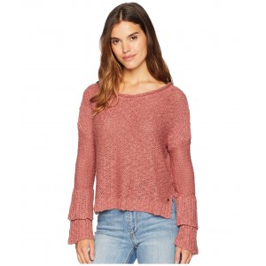 Ruffle Party Sweater Withered Rose