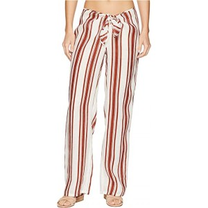 Kellen Printed Beach Pants Cover-Up New Ivory/Desert Spice