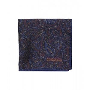 David Donahue Paisley Double-Sided Silk Pocket Square Merlot