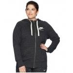 NSW Gym Vintage Full Zip Hoodie (Size 1X-3X) Black/Sail