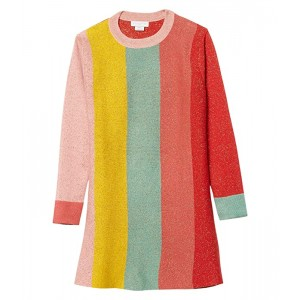 Long Sleeve Lurex Knit Striped Dress Early (Toddler/Little Kids/Big Kids)