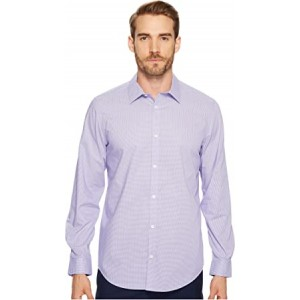 Long Sleeve Infinite Cool Button Down Mini Check Shirt Madras Purple