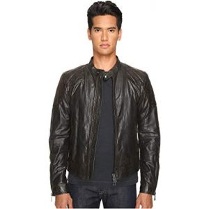Outlaw Lightweight Hand Waxed Leather Jacket Black