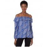 Chain Off-Shoulder Top Twilight Blue