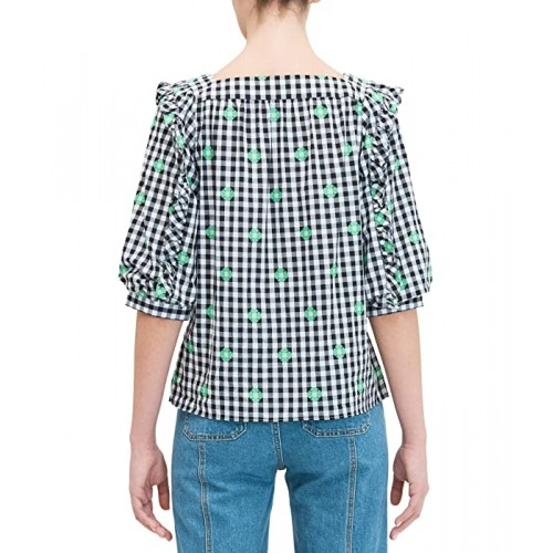 Gingham Voile Top