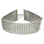 Wide Rhinestone Choker Necklace