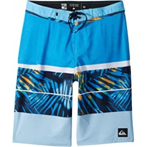 Slab Print Vee 19 Boardshorts (Big Kids) Brilliant Blue