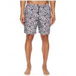 Mid Length Wagasa Swimsuit Boxer w/ Bag White Wagasa Print